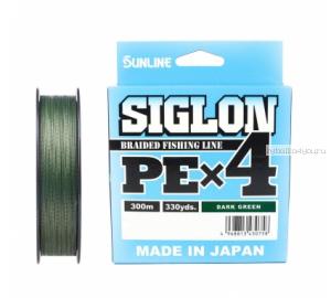 Плетёный шнур Sunline Siglon PEx4 300м / цвет: Dark Green